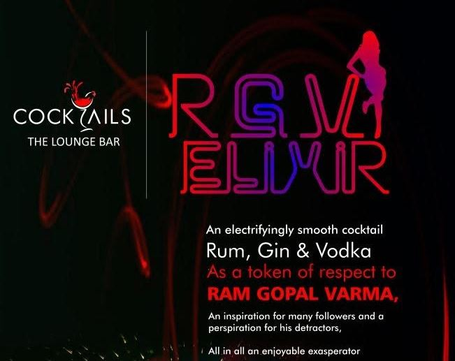 Cocktail By Veteran Film Maker Ram Gopal Varma Launched