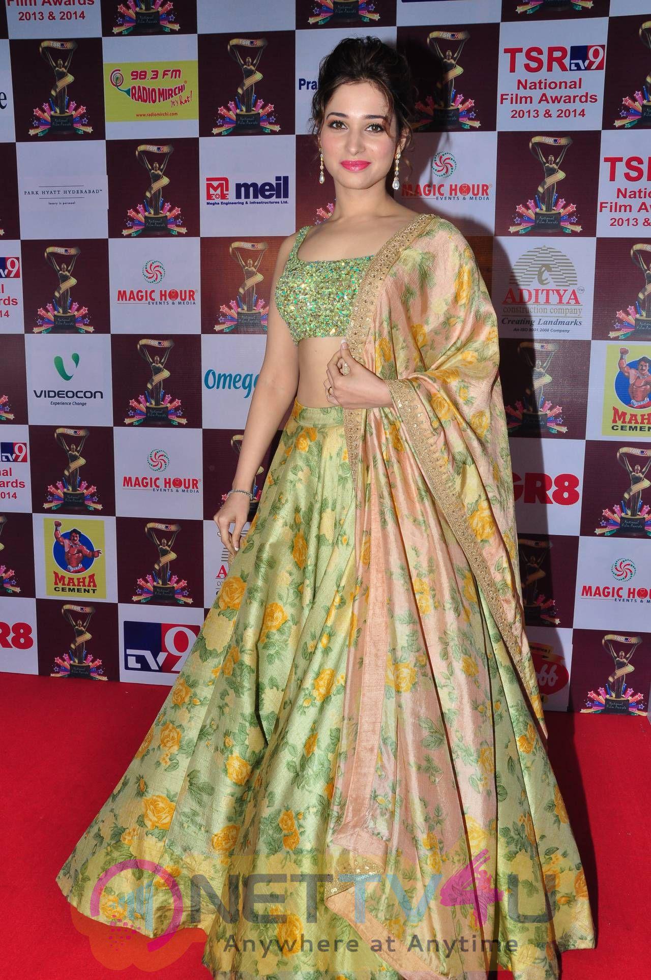 Cool Photos Of Actress Tamanna At TSR TV9 National Film Awards