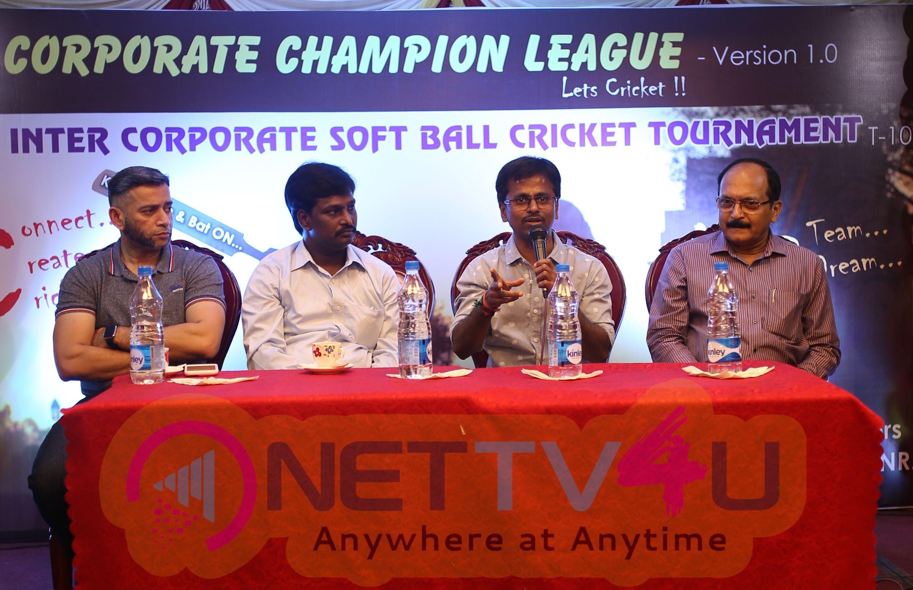 Corporate Champion League Press Meet Stills