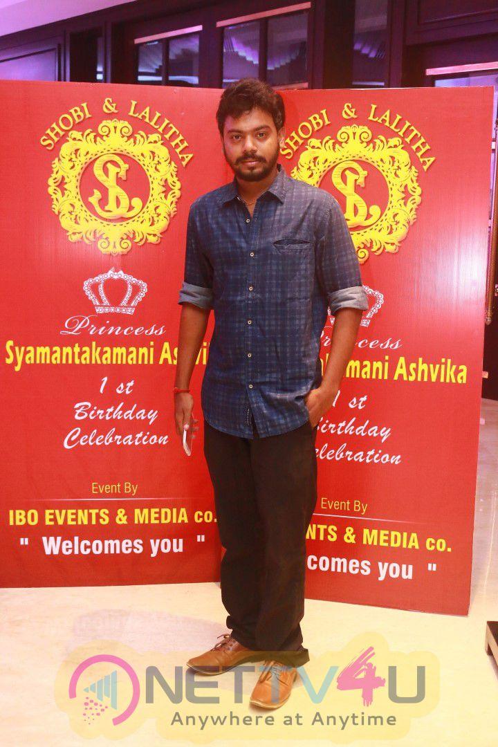 Dance Master Shobi Paulraj & Lalitha Daughter Syamantakamani Ashvika 1st Birthday Celebrations Pics