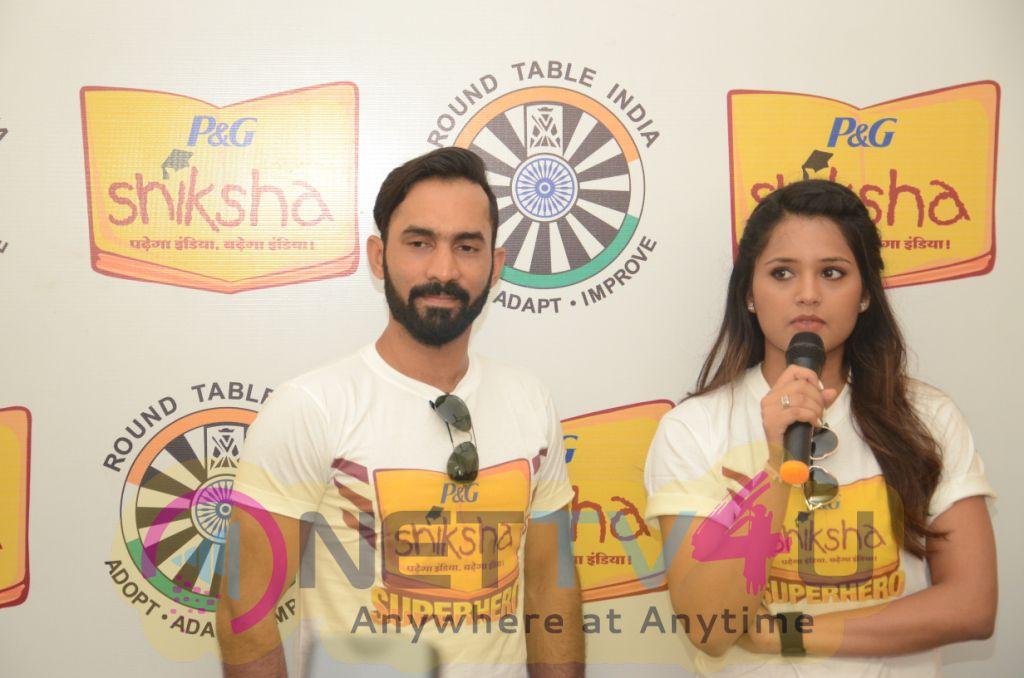 Dinesh Karthik & Dipika Pallikal At P&g Shiksha Event Stills
