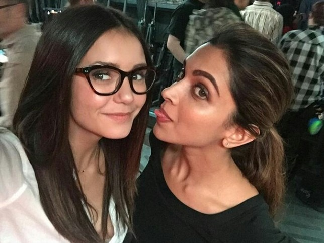 Deepika Chills Out With Co-Star Nina Dobreve