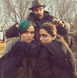 Deepika Having Fun On Sets Of 'Xander Cage'