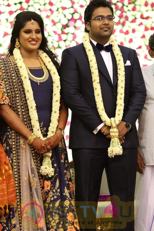 Director K.S.Ravikumar Daughter Marriage Reception Lovely Stills