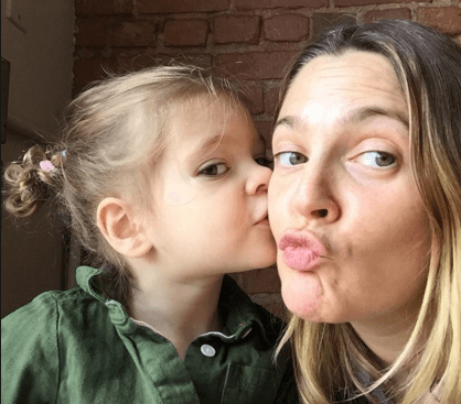 Drew Barrymore On Mother's Day!