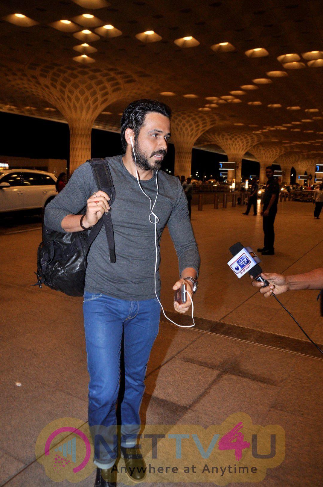 Emraan Hashmi & Team Great Grand Masti Spotted At Airport Beautiful Photos Hindi Gallery