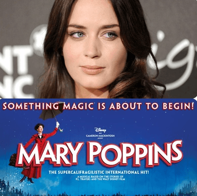 Emily Blunt As 'Mary Poppins'