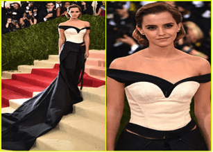 Emma Watson Takes The 2016 Met Gala With Her Ec..