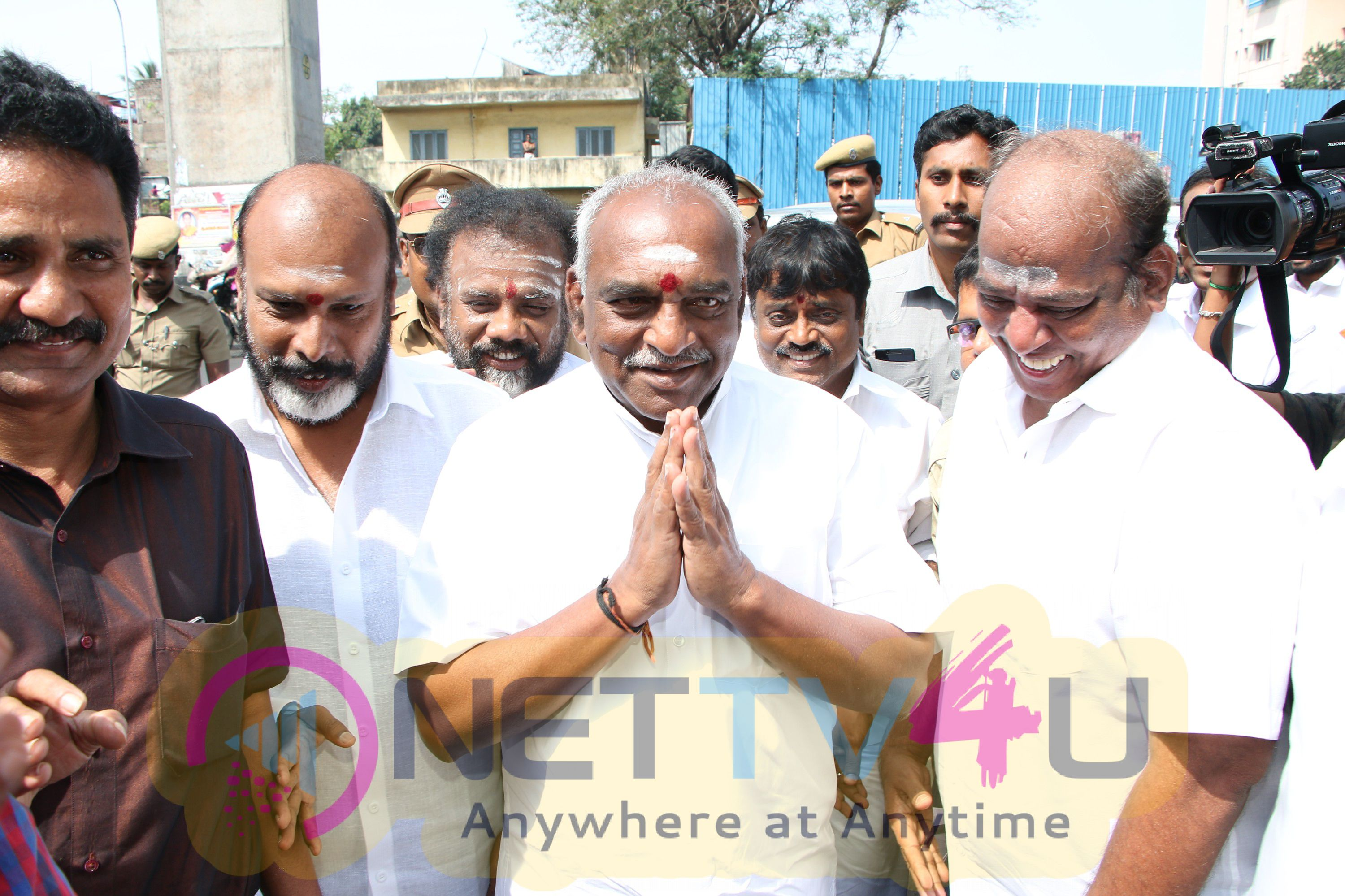 FEFSI President G.Siva Handed Over A Request Letter To Union Minister Mr. Pon Radhakrishnan Event Stills