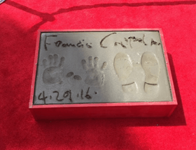 Francis Ford Coppola Honoured In Cement Outside..