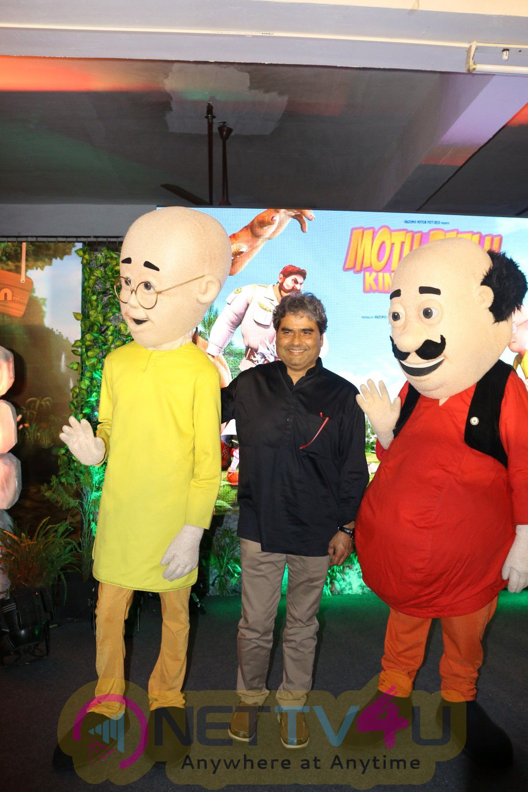 Gulzar & Vishal Bhardwaj At The Music Launch Of 3D Animation Film Motu Patlu King Of Kings Photos