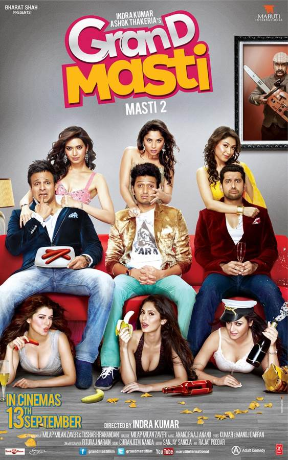 Grand Masti-'Fun' filled frolics, but not for the family! Movie review