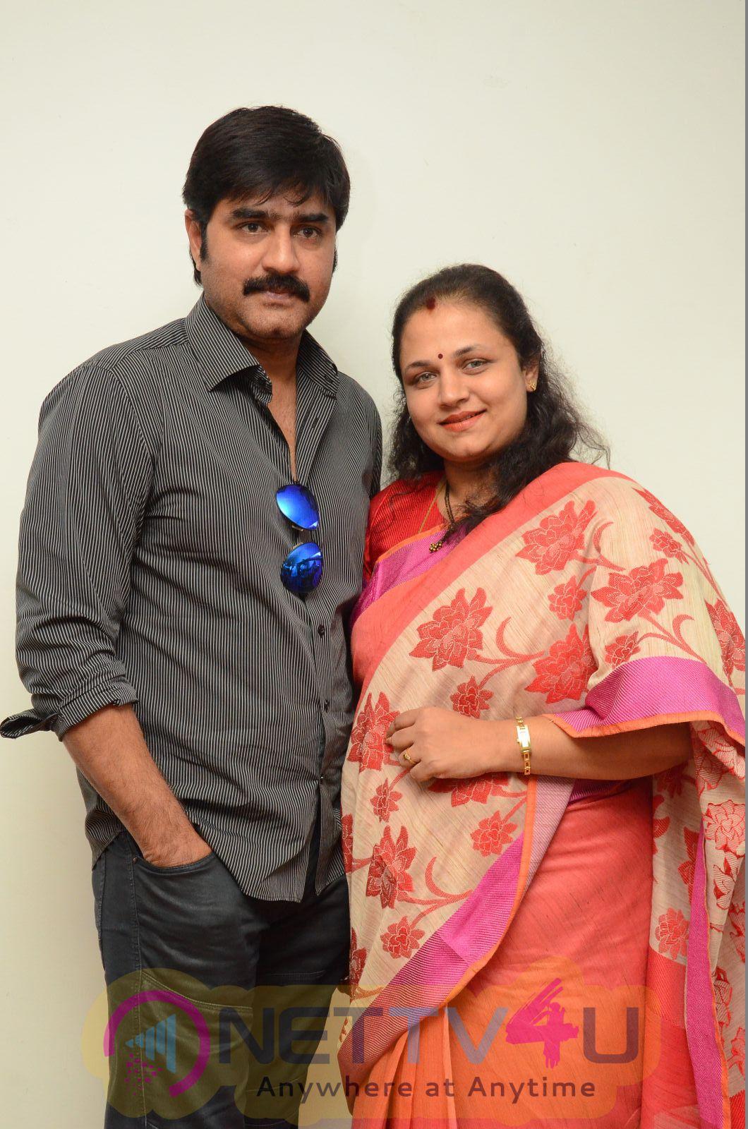Hero Srikanth Family Nirmala Convent Interview Photos