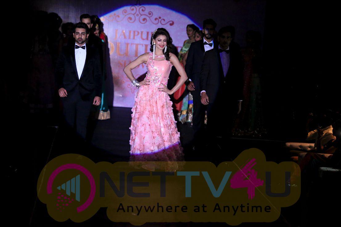 HD Photos Of Bollywood ActressMiss Universe India Urvashi Rautela Walked The Ramp For Jaipur Fashion Week