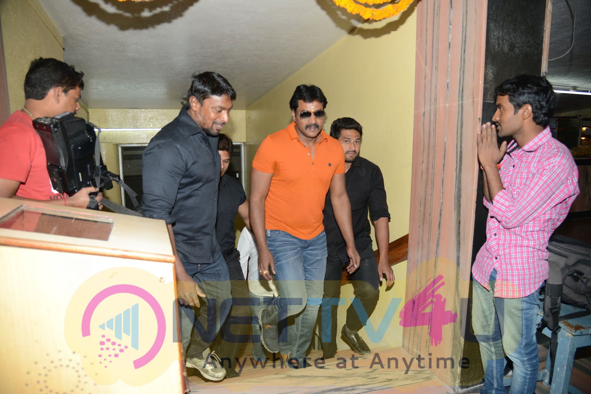 Hero Sunil's 'Krishnashtami' Team @ Devi Theater Hyderabad