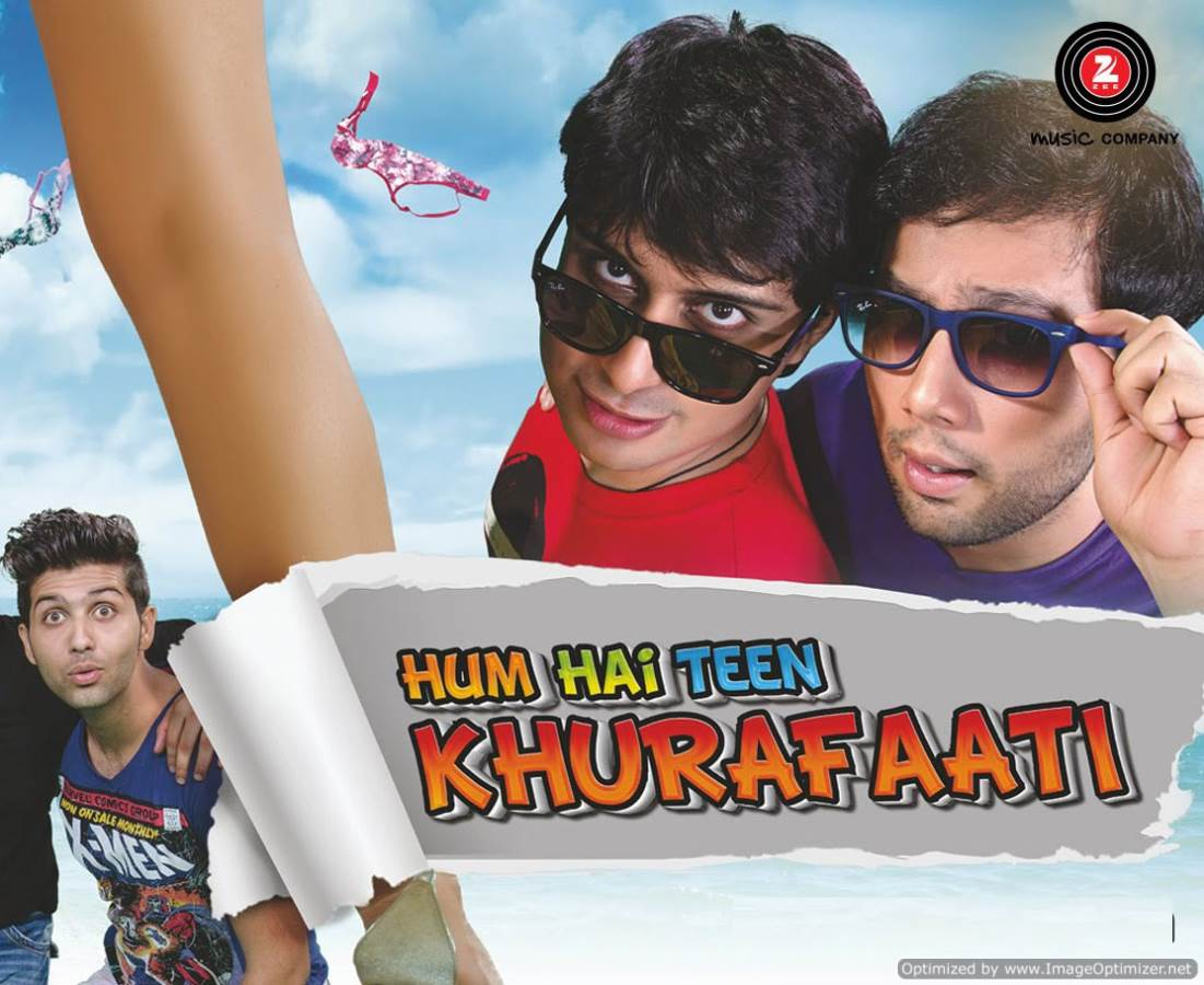Hum Hai Teen Khurafaati Movie Review Hindi