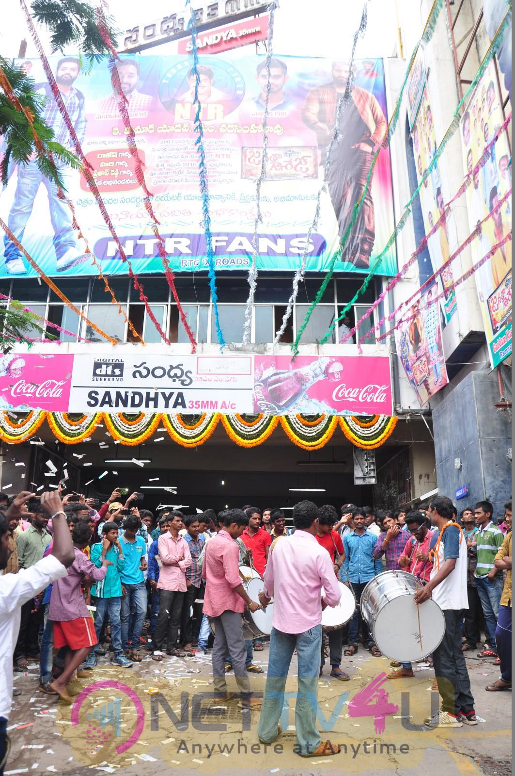 Jr.NTR Fans Hungama In Janatha Garage Movie Theaters Photos