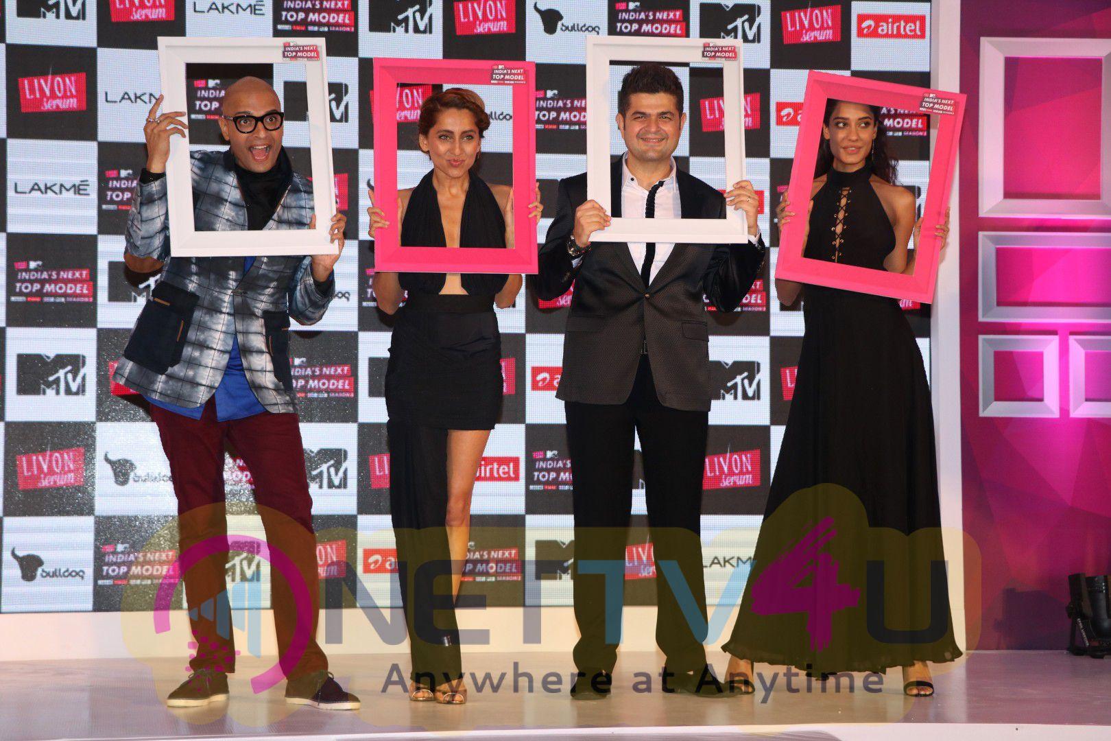 Judges Dabboo Ratnani And Lisa Haydon At The Launch Of India Next Top Model Season Photos
