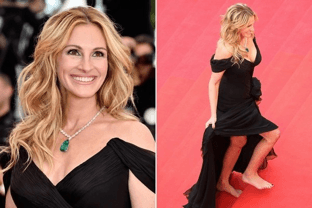 Julia Roberts Go Bare Foot In Cannes Festival