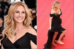 Julia Roberts Go Bare Foot In Cannes Festival