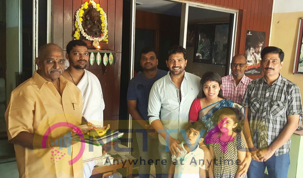 Kuttram 23 Movie Telugu Dubbing Started For Arun Vijay Photos