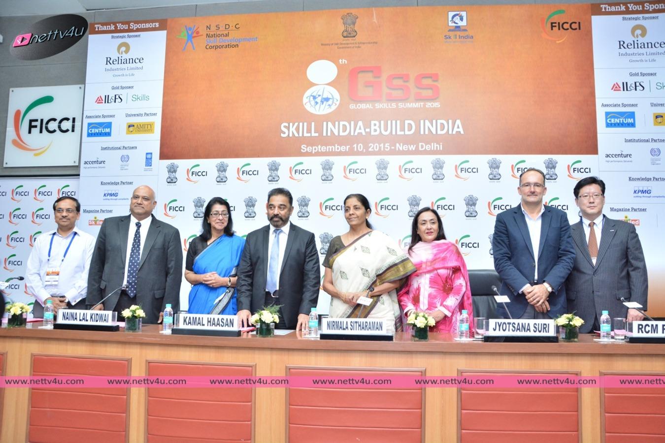 Kamal Haasan At Global Skills Summit 2015 Photos