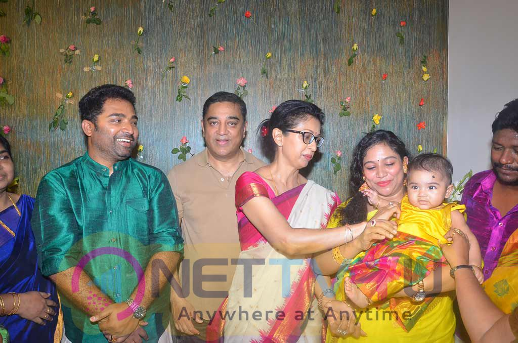 Kamal Haasan Names Dance Master Shobi Daughter Event Stills