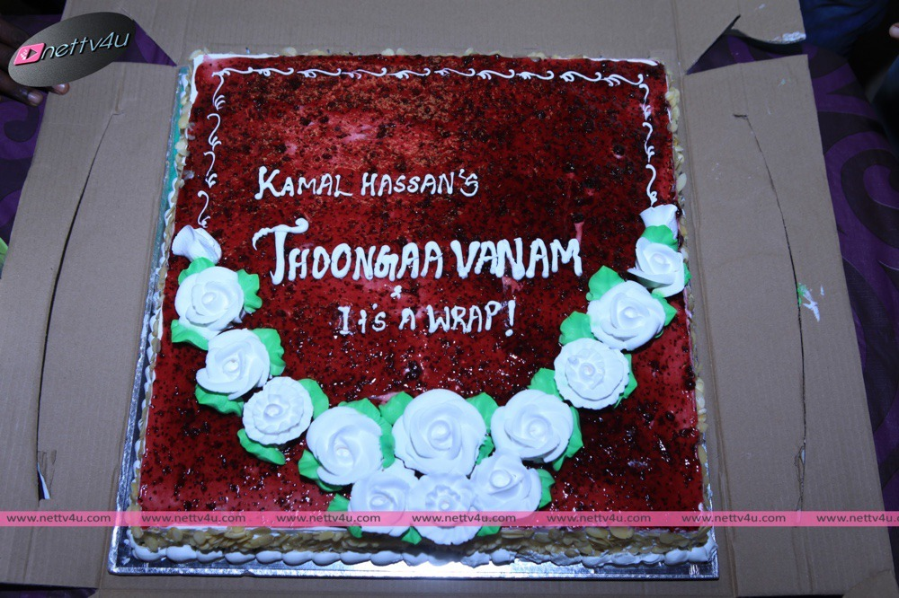Kamalhasan's Thoongavanam Movie Shoot Wrapping Stills And Press Release