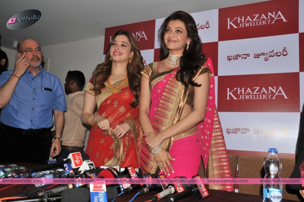 Khazana Jewellery Showroom Opening At  Vizag- Kajal Agarwal And Tamanna.