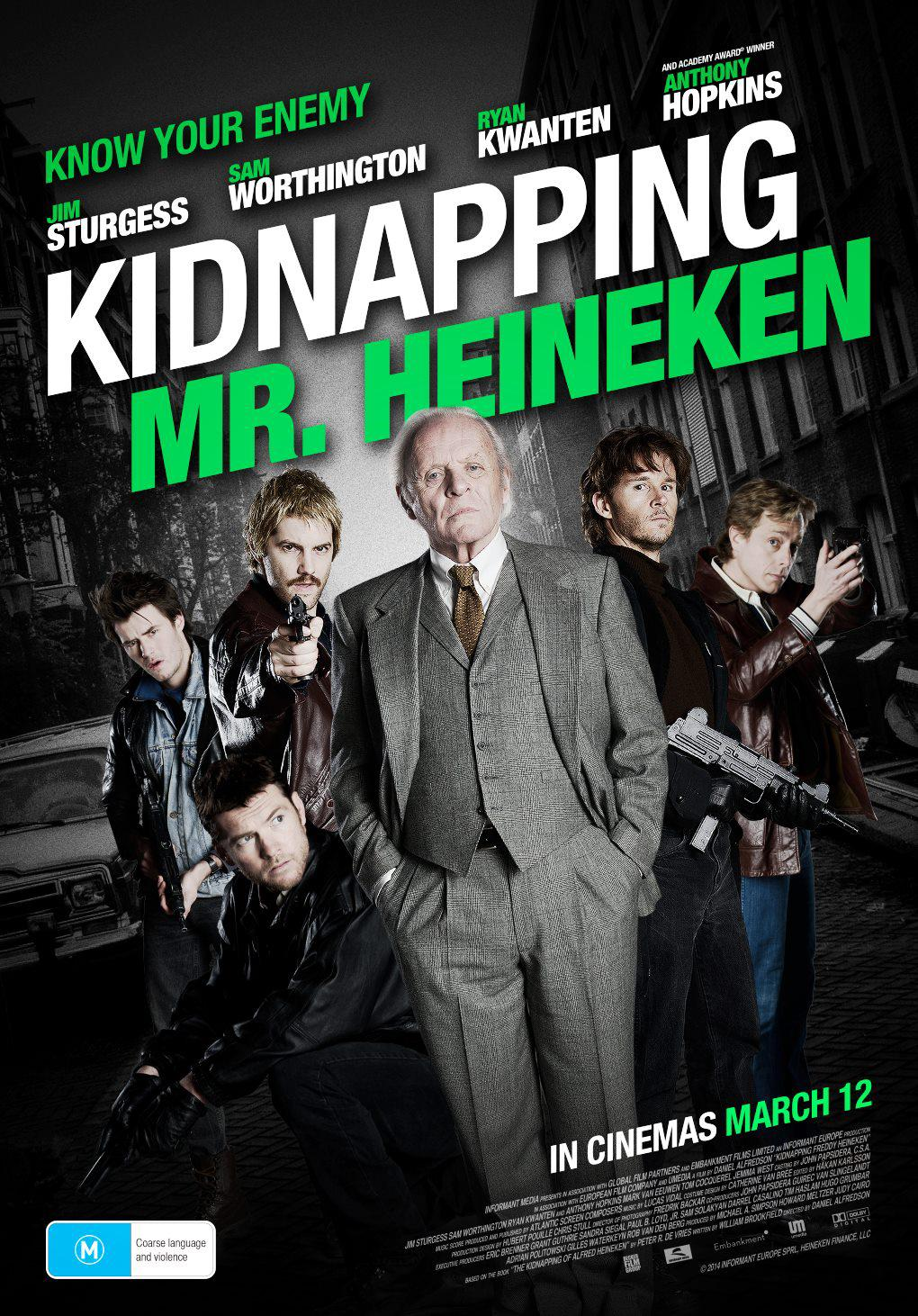 Kidnapping Mr. Heineken Movie Review English