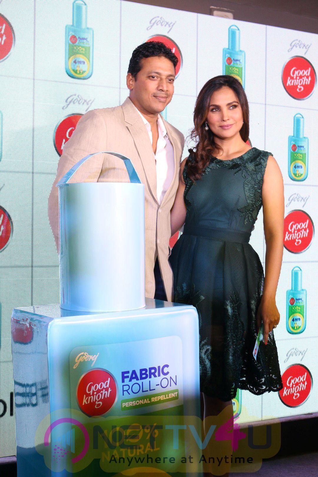 Lara Dutta & Mahesh Bhupathi Launch Of Its New Range Of Out Of Home Repellents Stills