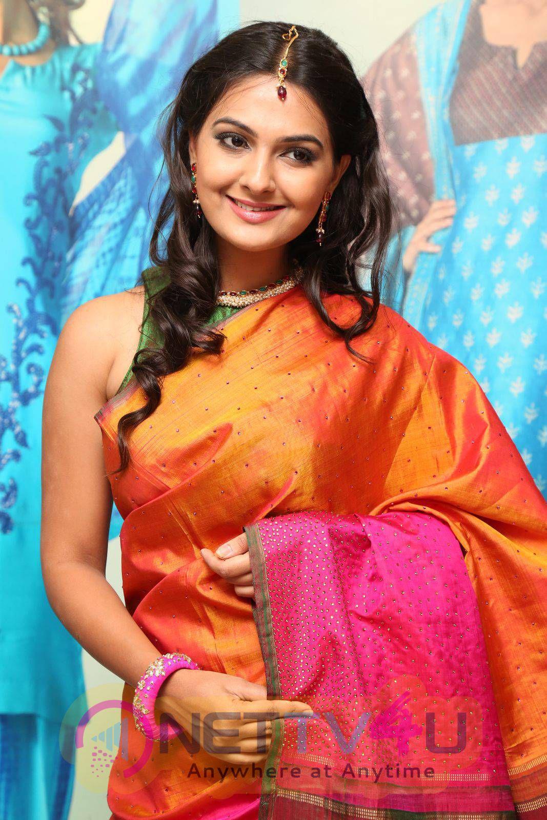 Latest Photos Of Actress Neha Deshpande At Sakhi Fashions 10th Year Celebrations
