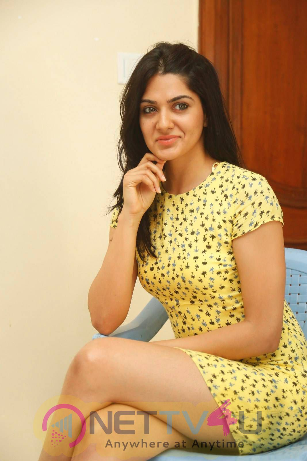 Latest Photos Of Actress Sakshi Chaudhary At James Bond Movie Interview