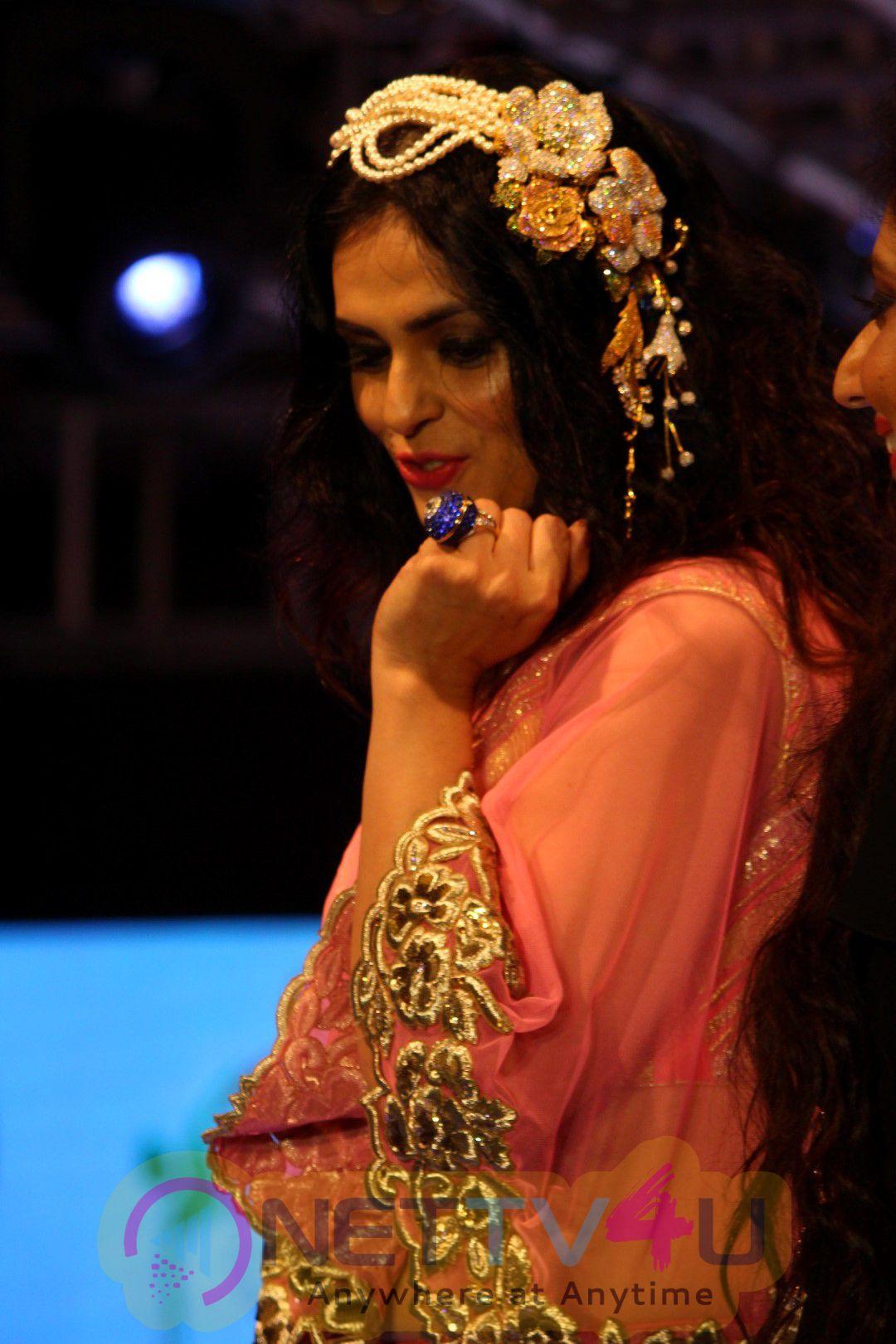Malaika Arora Walked The Ramp For Archana Kochhar At Ssja Silver Nite Fashion Show Images
