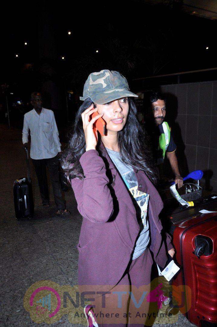 Mallika Sherawat & Mahesh Kothare & Many Celebs Spotted At Airport Event Stills