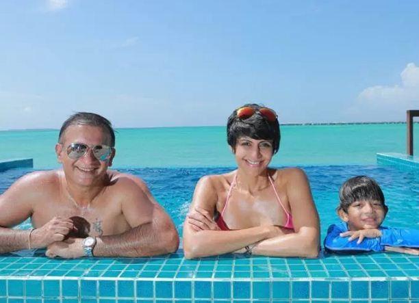 Mandira Bedi And Family At Maldives!