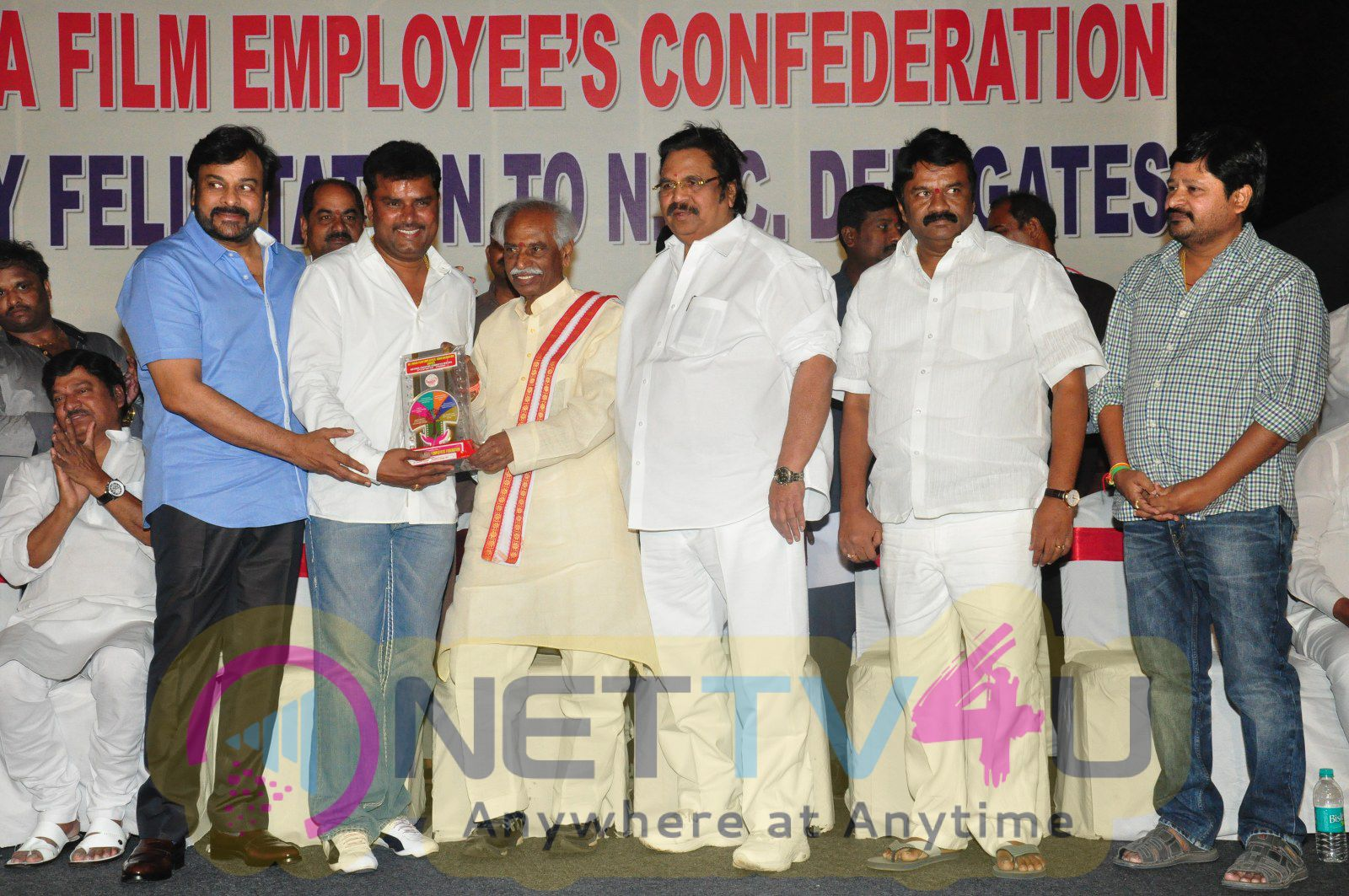 Megastar Chiranjeevi At Film Industry Workers Felicitation Photos Telugu Gallery