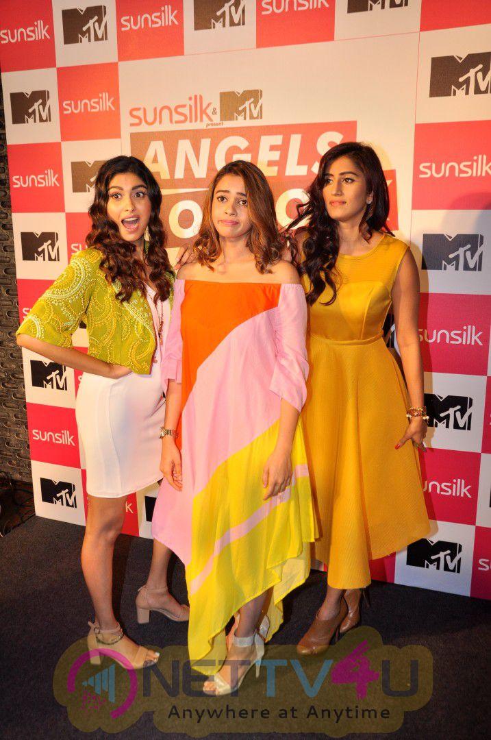 MTV Host A Meet & Greet With The Angels Of Rock Shalmali Kholgade,Akasa Singh,Anusha Mani Beautiful Stills