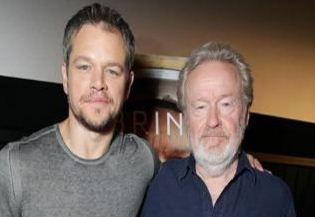 Matt Damon Cried By The Act Of Ridley Scott!