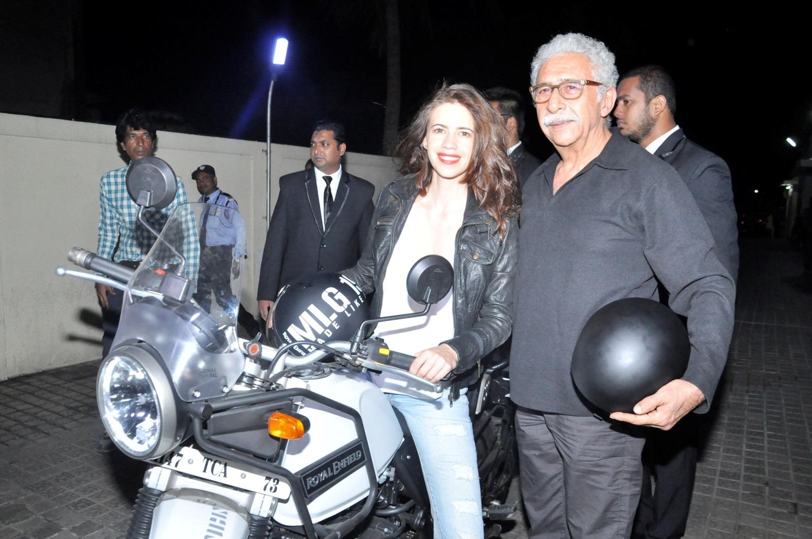 Naseeruddin Shah & Kalki Koechlin At Screening Of Film Waiting Exclusive Stills