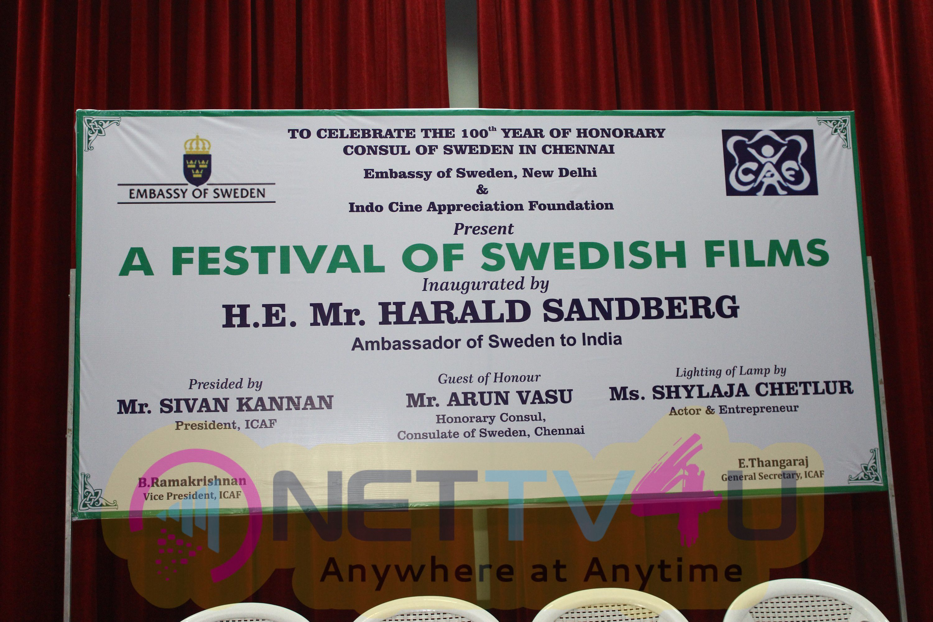 Photos Of Inaugural Function Of A Festival Of Swedish Films