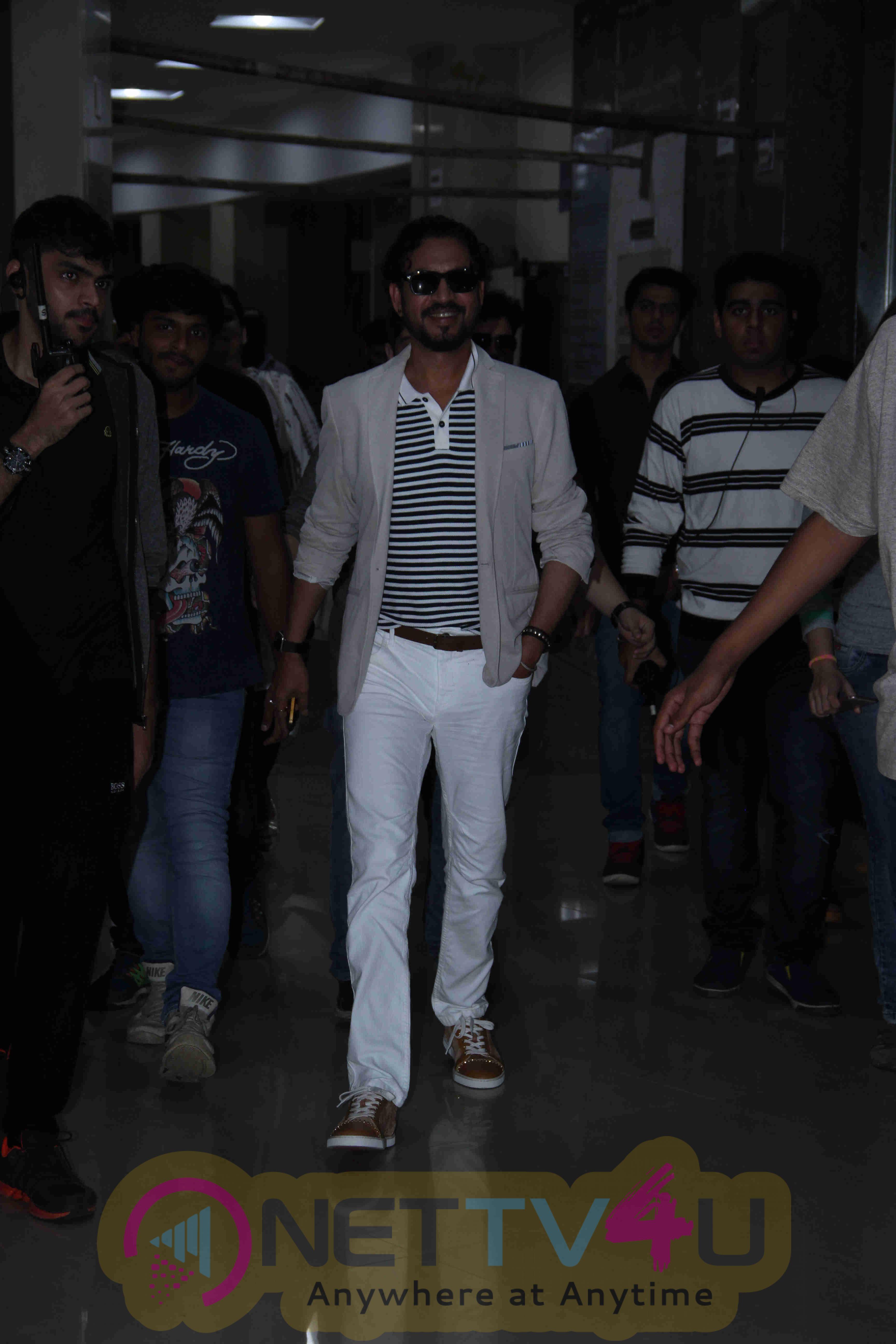 Photos Of Irfan Khan Promoting His Movie Madaari At Mithibai College In Mumbai