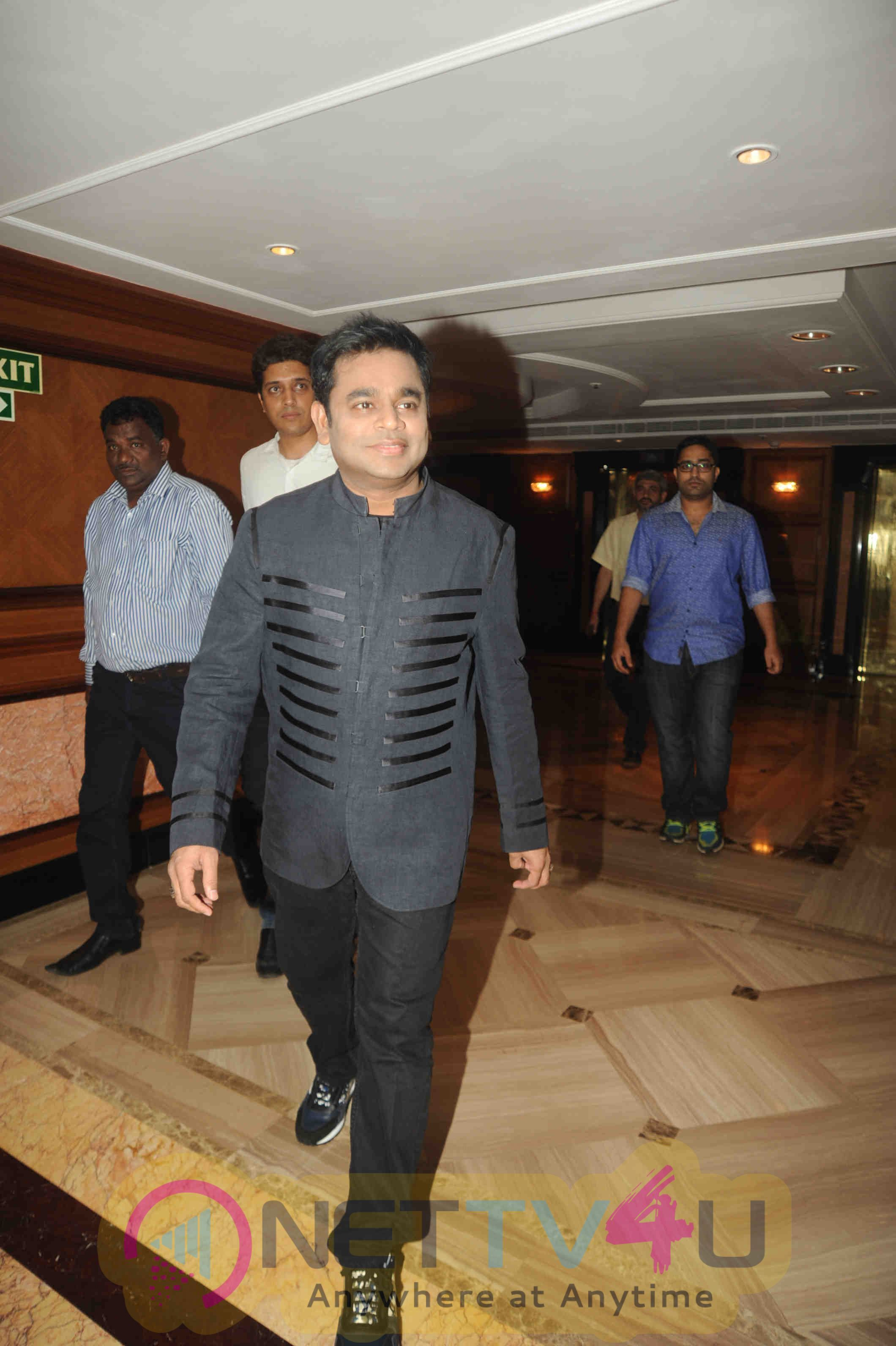 Photos Of Music Director A R Rahman Attend The Unveiling The Premier Futsal Official Anthem