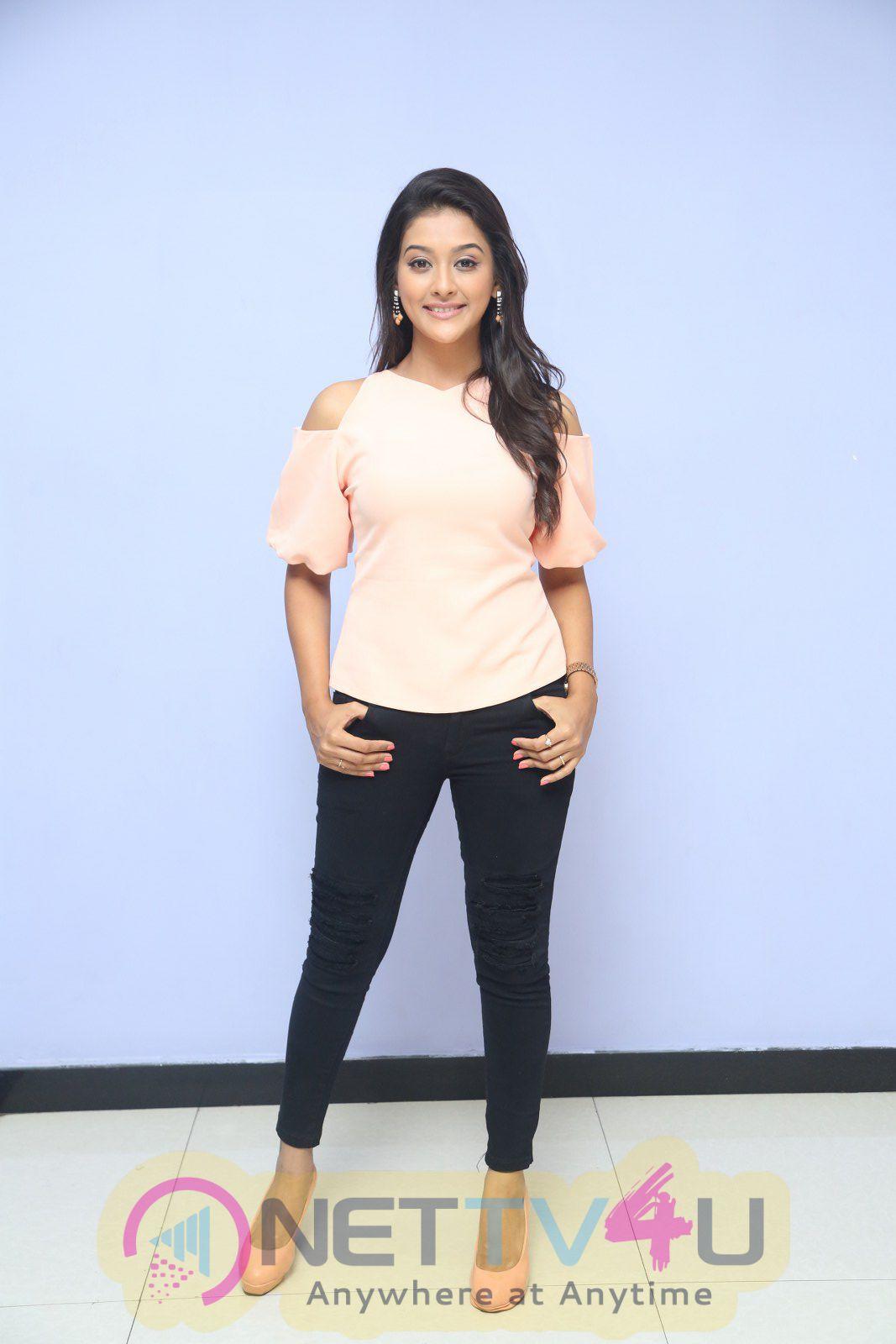 Pooja Jhaveri Attractive Stiils At Dwaraka Movie First Look Launch Telugu Gallery