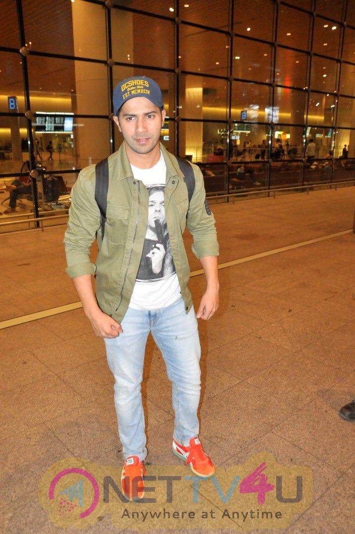 Priyanka Chopra, Varun Dhawan  And Many Celebs Spotted At Airport Exclusive Stills