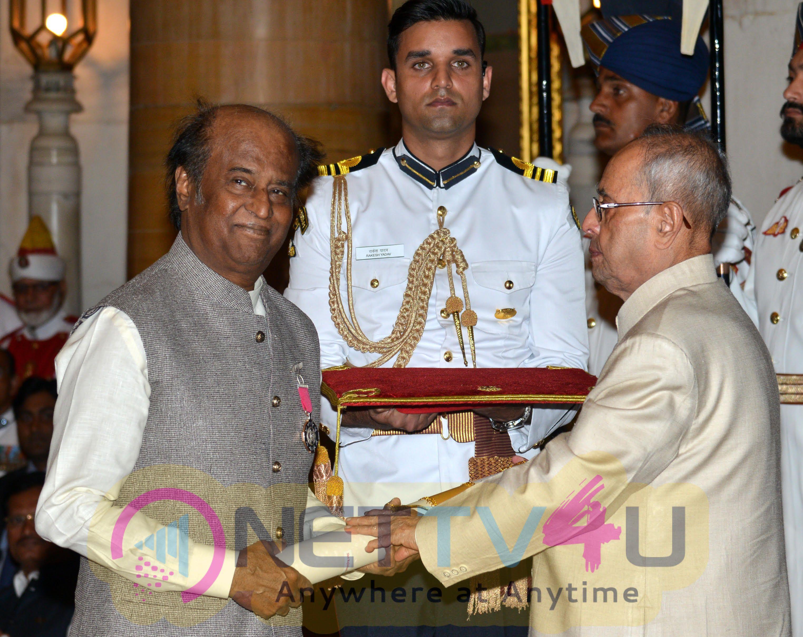 Padma Vibhushan Superstar Rajinikanths Still & Padma Award Function