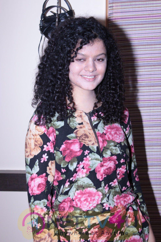 Palak Muchal At Song Recording Of Film Stills Hindi Gallery