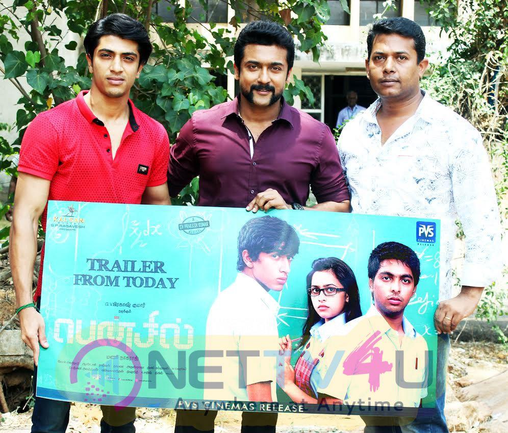 Pencil Movie Trailer Launch By Suriya Photos