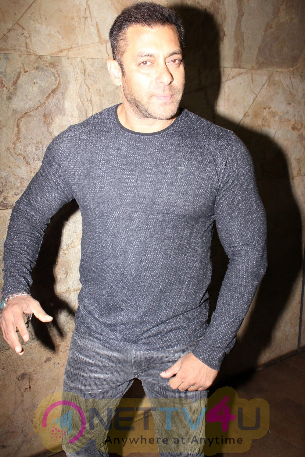 Photos Of Actors Salman Khan And Sohail Khan During The Special Screening Of Film The Jungle Book In Mumbai