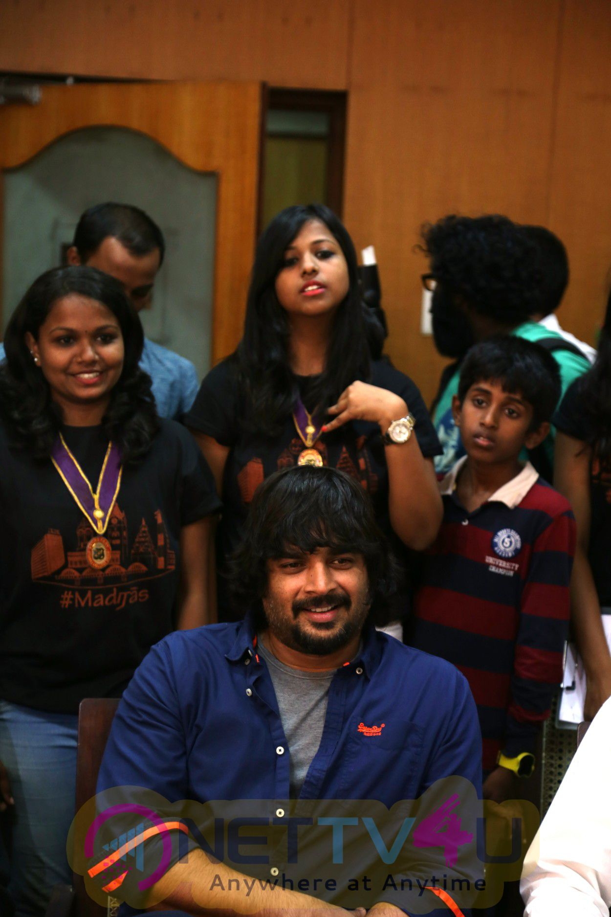 Photos Of Tamil Movie Irudhi Suttru Team At Ethiraj College For Irudhi Suttru Promotions